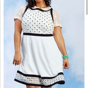 ModCloth Bliss in Bloom A-Line Dress Black White